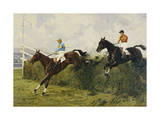 Golden Miller and Delaneige at the Last Fence at the Grand National  1934