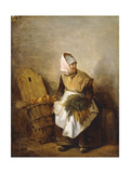A Peasant Woman with Vegetables and Bread