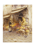 A Fruit Stall at the Base of the Campanile  San Giovanni Elemosinario  Near the rialto  Venice