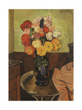 Vase of Flowers on a Round Table