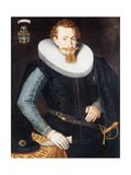 Portrait of a Gentleman  aged twenty-five  in a black doublet with turquoise and gold sleeves