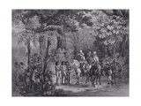Meeting of the Indians with the European Explorers