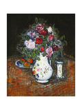 Vase of Flowers and Bowl of Fruit