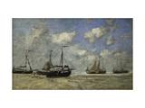 Scheveningen  Boats Run Aground on the Shore