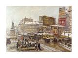 Paris  Place Clichy sous la Neige