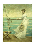 Lady on the Deck of a Ship