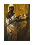 A Negress Holding a Salver of Fruit