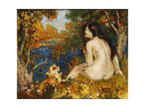 The Bather with her Dog