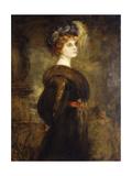 Portrait of a Lady  standing three-quarter length
