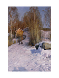 A Winter Landscape with Children Sledging