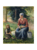 Peasant and girl  Eragny