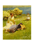 Young Girls on a Cliff Top