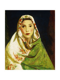 Mexican Girl with Oriental Scarf
