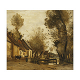 Flesselles  Street with Peasant and Cow