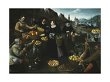 An Allegory of Autumn: A Fruit and Vegetable Stall above the Weinmarkt in Frankfurt