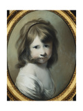 Portrait of Harriet Wright  the Artist's Daughter  as a Child