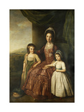 A Group Portrait of Mary  Countess of Darnley and her Children  Lord Clifton and Lady Mary Bligh