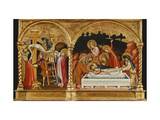 The Descent from the Cross and the Entombment - a Section of a Predella