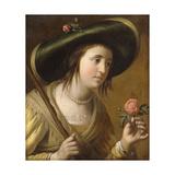 Portrait of Princess Elizabeth II van de Palts as a Shepherdess  holding a Rose