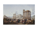 A View of the Acropolis  Athens  from the Temple of Zeus at Olympia
