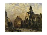 Street Scene behind the Saint Medard Church  Paris
