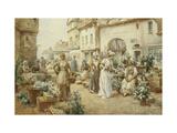 A Flower Market  France