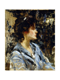 Young Woman in Blue - Miss H Strom
