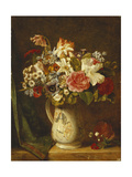Roses  Narcissi and Other Flowers in a Vase