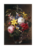 Roses  Lilies  Pansies and other Flowers in a Vase