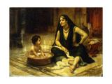 Fellahin and Child  The Bath