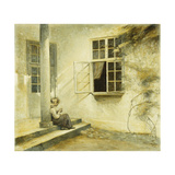 A Girl Sitting on a Porch  Liselund