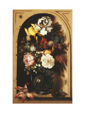 Flowers in a Vase Inside a Niche