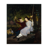 Alexander and Fanny on a Swing