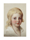 Portrait study of Francesco  Crown Prince of Naples  as a boy  head and shoulders