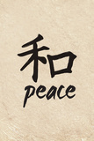 Chinese Writing (Peace) Plastic Sign
