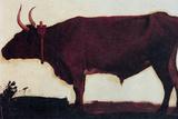 Albert Bierstadt Ox Portrait Plastic Sign