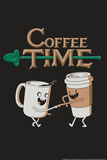 Coffee Time Snorg Tees Plastic Sign