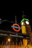 Westminster Station London Underground Plastic Sign