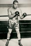 Joe Louis Boxing Pose Sports Plastic Sign