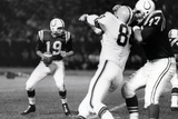 Johnny Unitas with Football Sports Plastic Sign