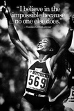 Florence Griffith-Joyner Impossible Quote iNspire Plastic Sign