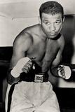 Sugar Ray Robinson Boxing Pose Sports Plastic Sign