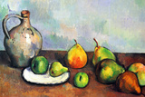 Paul Cezanne Still Life Jar and Fruit Plastic Sign