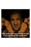 Rocky Marciano Knock Out iNspire Quote Plastic Sign