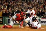 Boston  MA - Oct 30: 2013 World Series Game 6  Red Sox v Cardinals - Jonny Gomes and Yadier Molina