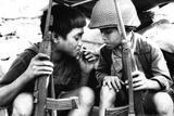 Vietnam War Kids Smoking Plastic Sign