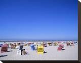 Beach chairs on Nordstrand  Langeoog  East Frisian Islands  Lower Saxony  Germany