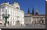 Archbishop's Palace with first Courtyard on Hradcany in Prague  Central Bohemia  Czech Republic