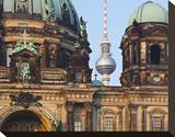 Berlin Cathedral with Television Tower  Berlin  Germany