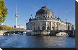 Bode Museum on Museum Island on the River Spree  Berlin  Germany
